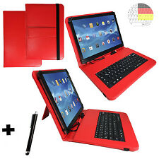 Deutsch Tastatur Hülle - Acer Iconia One 10 10.1 Zoll - Tablet Tasche Cover Rot