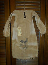 Prim WALL Primitive Decor ROOSTER WEATHERVANE NIGHTSHIRT Grungy,Cupboard