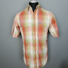 COLUMBIA OMNI-DRY SHIRT TITANIUM SHORT SLEEVE TRAVEL OUTDOOR Mens M Fast Drying