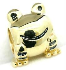 Frog 9ct 9K 375 Solid Gold Bead Charm FIT EURO BRACELET 30 Day Refund