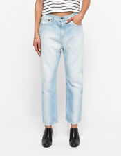 New trend! rag & bone Blue Extreme Wide Leg Jeans In Powder Size 28 Retail $254