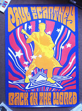 PAUL McCARTNEY Tour Merchandise PSYCHEDELIC POSTER 2003 Lennon Beatles Wings