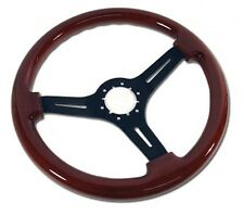 1968 - 1975 / 1977 - 1982 Corvette C3 Mahogany Steering  Wheel w/3 Black Spokes