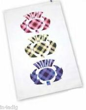 New Scottish Tartan Thistle Kitchen Tea Towel 100% Cotton Scotland Gift New