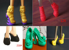 Kids Gifts 5 pairs Different Shoes Boots High Heels Dress up Monster High Dolls