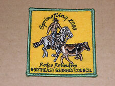 BOY SCOUTS spring fling 2000 rodeo roundup northeast georgia council patch