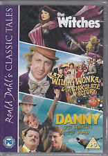 Danny the Champion of the World, Willy Wonka, The Witches 3 film set NEW R2 DVD