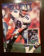 1990 Football Beckett Magazine - Issue #19 Troy Aikman Cover