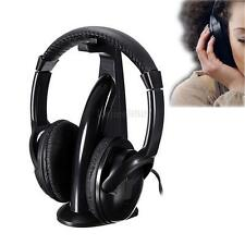 5in1 FM Wireless Headphone Stereo Headset Kopfhörer Für PC TV Audio Handy