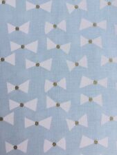 Bow Ties Mist Green White Gold Michael Miller Fabric FQ + More 100% Cotton Craft