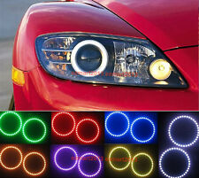 For Mazda RX8 Rx-8 2004-2008 RGB Angel Eyes Multi-Color LED Halo Rings Headlamp