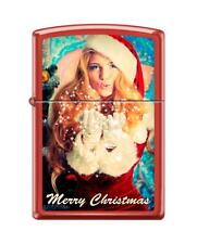"Merry Christmas ""Dreams Come True"" Zippo Lighter - Red Matte - FREE SHIPPING!"