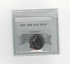 **1996**, Coin Mart Graded Canadian, Five Cent, **SP-67**