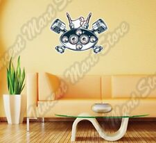"Dashboard Piston Spark Plug Racing Wall Sticker Interior Decor 25""X22"""