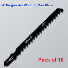 "10x T144D 4"" 100mm T-shank Progressive Wood Cut Jig Saw Blades fits Bosch HCS"