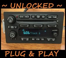 PLUG&PLAY 02-03 CHEVY Trailblazer S10 GMC Envoy 6 Disc CD Changer Radio UNLOCKED