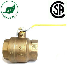 "2"" IPS Full Port Brass Ball Valve CSA Approved 600 WOG Lead Free Threaded"
