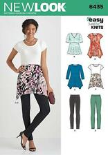 NEW LOOK SEWING PATTERN MISSES' KNIT LEGGINGS & TOP  SIZE 10 - 22  6435