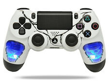 """Skulls Blue"" Ps4 Custom UN-MODDED Controller Exclusive Illuminating Design"