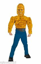 Fantastic 4 The Thing Child 7- 8 Halloween Costume Muscle Chest Medium New Four