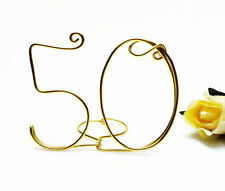 50th Anniversary, Birthday Wire Cake Topper Gold, Silver, Red, Black, Brown