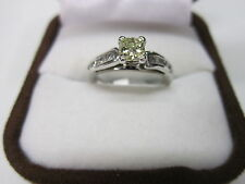GORGEOUS ESTATE 14 KT GOLD .72 CTW FANCY YELLOW DIAMOND RING !!!!!!!!!