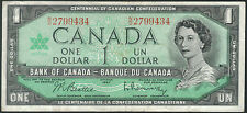 TMM* 1967 Canada Bank Note QEII One Dollar Centennial of Confederation P84b VF