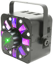 QTX HADRON ECO 3-IN-1 LED LIGHT EFFECT PROJECTOR STROBE LASER DMX DJ DISCO
