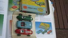 Corgi gs 5 150 151 152 voiture de course set de 1959-63 playworn voitures toutes originalset