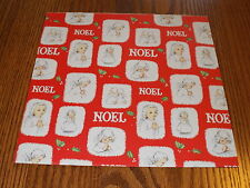 VTG CHRISTMAS WRAPPING PAPER GIFT WRAP MID CENTURY CUTE NOEL ANGELS