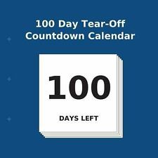 100 Day Tear-Off Countdown Calendar by Buy Countdown Calendar (2013, Paperback)