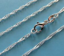 """CHAIN 925 Sterling Silver Twisted Serpentine 55 cm 22 """" Parrot Clasp SCH020"""