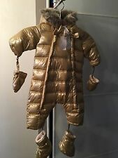 NWT Authentic Tartine Et Chocolat Snow Suit/ Bunting In Gold Size 9m/ 9 Months
