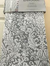 "Envogue Ornate Scroll Window Panels Drapery Curtains Grey & Ivory 50 x 96"" * NWT"