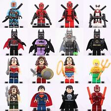 16pcs SET Batman Superman Deadpool Wonder Woman Daredevil SuperHero Custom Lego