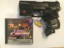 SONY PLAYSTATION 1 PS1 PSone LOGIC 3 LIGHT BLASTER GUN P99G2 + TIME CRISIS GAME