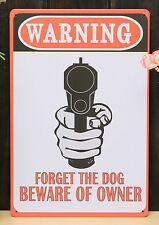 Beware Of The Dog Tin Sign House Signs Beware Of The Owner Retro Size 20x30 Cm