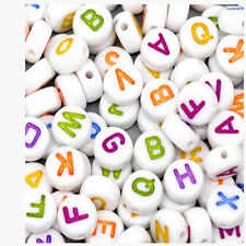 Wholesale beautiful mixed letter/acrylic flat shape letter beads DIY 4x7mm
