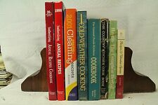big lot old cookbooks cook books Southern Living recipes & wooden spoons Country