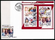 GUINEA 2016  THE ROYAL FAMILY KATE,WILLIAM,GEORGE & CHARLOTTE SHEET FDC