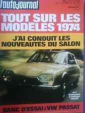 L'AUTO JOURNAL 1973 16 CITROEN GS 1220 VOLKSWAGEN PASSAT GP ALLEMAGNE HOLLANDE