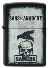 ZIPPO Feuerzeug SONS OF ANARCHY - RAVEN and SKULL Totenkopf Rabe NEU OVP