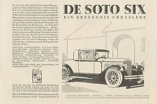 Y4354 Automobile DE SOTO SIX Chrysler - Pubblicità d'epoca - 1929 Old advert