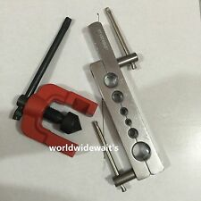 Easy to Use 2 Parts Tubing Pipe Flaring Dies Tools Kit 3/16-5/8 Air Brake Line