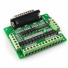 6axis db25 breakout board Interface Adapter +db25 parallela Mach 3 cnc