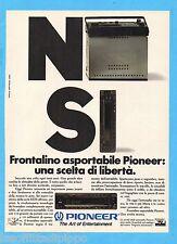 QUATTROR992-PUBBLICITA'/ADVERTISING-1992- PIONEER - FRONTALINO ASPORTABILE