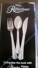 REFLECTIONS HEAVY DISPOSABLE PLASTIC SILVER CUTLERY COMBO ( 180 TOTAL ) WEDDINGS