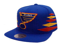 St. Louis Blues Snapback Mitchell & Ness Solid Diamond Cap Hat Blue