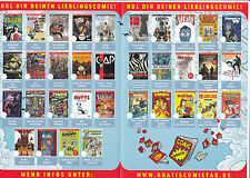 GRATIS COMIC TAG 2016 KOMPLETT alle 34 Hefte - BATMAN - DONALD DUCK - SIMPSONS