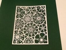 8 x Poppy Stamps die cuts MOD SNOWFLAKE BACKGROUND **FREE UK POSTAGE**